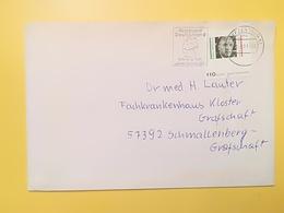 2001 BUSTA GERMANIA DEUTSCHE BOLLO KARL ARNOLD ANNULLO BRIEFZENTRUM 51 ETICHETTA REISELAND GERMANY - [7] Repubblica Federale