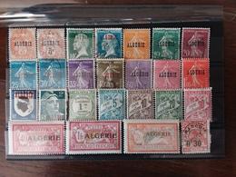 EX COLONIE FRANCESI Anni '15/'40 - ALGERIA - Lotticino Posta Ordinaria Sovrastampati - Nuovi*/timbrati + Spese Postali - Gebraucht