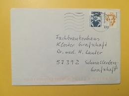 2001 BUSTA GERMANIA DEUTSCHE BOLLO DONNE STORIA FAMOUS WOMEN HISTORY ANNULLO BRIEFZENTRUM 57 GERMANY - [7] Repubblica Federale