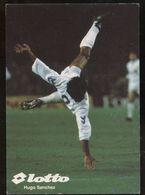 C1827 SPORT CALCIO FOOTBALL SOCCER - CARTOCINO FORMATO CARTOLINA SPONSOR LOTTO - HUGO SANCHEZ ROVESCIATA REAL MADRID - Fussball