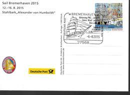ALLEMAGNE  Carte  2015  Bremerhaven  Bateaux  Alexander Von Humboldt - Boten