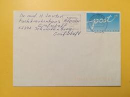 2002 BUSTA GERMANIA DEUTSCHE BOLLO POST ANNULLO BRIEFZENTRUM 53 ETICHETTA GERMANY - [7] Repubblica Federale