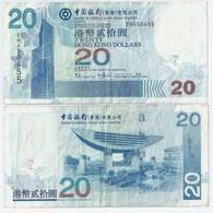 VINTAGE ! JAN. 1st 2006 (1/1/2006) Hong Kong $20 Currency Banknote (#47-A) - Chine