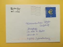 2002 BUSTA GERMANIA DEUTSCHE BOLLO EURO ANNULLO BRIEFZENTRUM 66 GERMANY - [7] Repubblica Federale