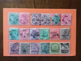 EX COLONIE INGLESI - INDIA INGLESE - Servizi - Lotticino Timbrati + Spese Postali - 1882-1901 Imperium