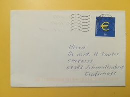 2002 BUSTA GERMANIA DEUTSCHE BOLLO EURO ANNULLO BRIEFZENTRUM 57 GERMANY - [7] Repubblica Federale