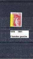 Variété Roulette De 1978 Neuf ** Y&T N° 1981 Avec 2 Bandes Gauche - Variétés: 1970-79 Neufs