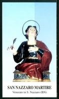 SANTINO - San Nazzaro Martire -  Santino Con Preghiera Come Da Scansione - Imágenes Religiosas