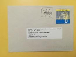 2002 BUSTA GERMANIA DEUTSCHE BOLLO BERLINER BAHN ANNULLO KREFELD ETICHETTA GERMANY - [7] Repubblica Federale