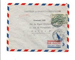 CAMEROUN LETTRE AVION DE DOUALA POUR LA FRANCE 1952 - Cameroun (1915-1959)