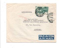 CAMEROUN LETTRE AVION DE DOUALA POUR LA FRANCE 1953 - Cameroun (1915-1959)