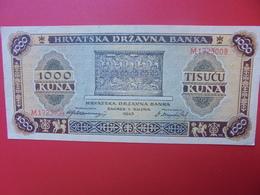 CROATIE 1000 KUNA 1943 CIRCULER (B.5) - Croacia