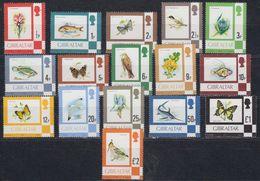 Gibraltar 1977 Fauna & Flora / Definitives 16v ** Mnh (44017) - Gibraltar