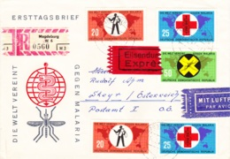 1963 Ersttagsbrief: Kampf Der Malaria, Expres, Lupo, REC - FDC: Sobres