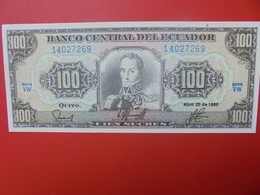 EQUATEUR 100 SUCRES 1990 PEU CIRCULER/NEUF (B.5) - Equateur