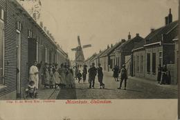 Stellendam (ZH) Molenkade (Molen) (veel Volk) 1910 - Autres