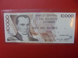 EQUATEUR 10.000 SUCRES 1995 PEU CIRCULER/NEUF (B.5) - Equateur