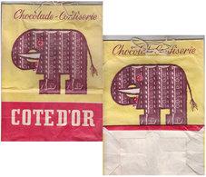 Sac Papier Chocolat Côte D'or  1950 - Publicités