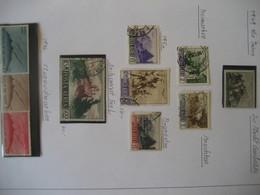 San Marino- 2 Blätter Verschiedene Marken Postfrisch Und Gestempelt, Karte - Saint-Marin
