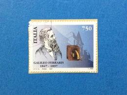 1997 ITALIA FRANCOBOLLO USATO STAMP USED GALILEO FERRARIS - 6. 1946-.. Repubblica