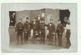Kamp Van Beverloo - Groep Militairen  - Fotokaart ( 2 Scans) - Militaria