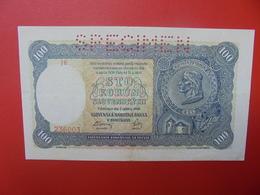 "SLOVAQUIE 100 KORUN 1940 ""SPECIMEN"" CIRCULER (B.5) - Slowakei"