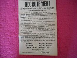 Ministère Défense ( Recrutement Pour La Guerre ) 1944 - 1939-45