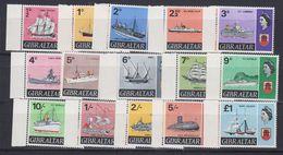 Gibraltar 1967 + 1969 Definitives / Ships 15v ** Mnh (44023) - Gibraltar