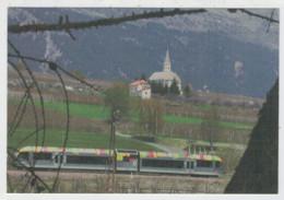 SUISSE  SCHWEIZ-   TRAIN-ZUG- TREIN- TRENI- GARE- BAHNHOF- STATION- STAZIONI   2 SCAN  (NUOVA) - Trains
