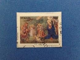 1997 ITALIA FRANCOBOLLO USATO STAMP USED NATALE DA 900 - 6. 1946-.. Repubblica