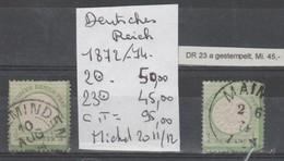 TIMBRE D ALLEMAGNE DEUTSCHES REICH OBLITERE 1872 /74 Nr 2-23    COTE 95  € - Allemagne