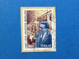 1997 ITALIA FRANCOBOLLO USATO STAMP USED ARISTIDE MERLONI - 6. 1946-.. Repubblica