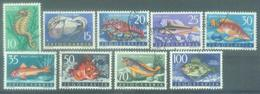 YU 1956-795-803 FISH, YUGOSLAVIA, 9v, Used - Oblitérés