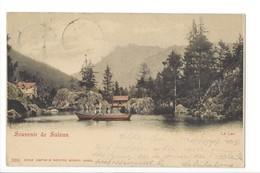 22251 - Souvenir De Salvan Lac Des Marécottes Barque Circulée 1900 - VS Valais