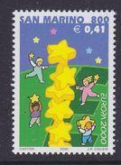 Europa Cept  2000 San Marino  1v ** Mnh (44027) @ Face Value - Europa-CEPT