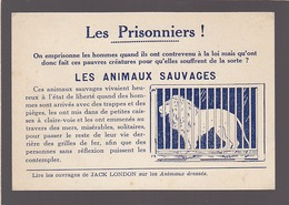 Protection Des Animaux Sauvages / Contre Les Animaux En Cage / Carte éditée Autour De 1920 - Tierwelt & Fauna