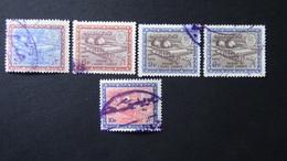 Saudi Arabia - 1966/70 - Mi:SA 298Y,302Y,305Y,306Y - Yt:SA 371B,372,387,392 O - Look Scan - Saudi-Arabien