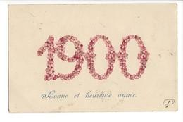 22257 -  Bonne Et Heureuse Année 1900 + Cachets Lausanne  Et Lignerolle 1899 Et 1900 - Nouvel An