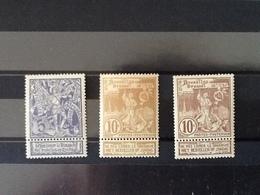 Nr.71/73** Wereldtentoonstelling Te Brussel. - 1894-1896 Expositions