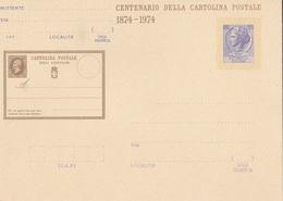 1° CENTENARIO POSTE ITALIANE   1874-1974  AUTENTICA 100% - Posta
