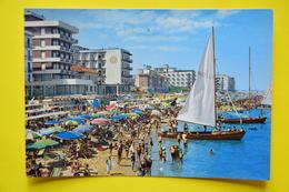 Cartolina Cattolica Grandi Alberghi Spiaggia 1950 - Rimini