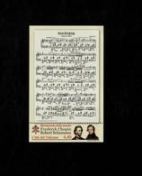 Città Del Vaticano 2010 2° Centenario Della Nascita Di Chopin E Schumann  MNH** Foglietto - 6. 1946-.. Repubblica
