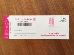LETTRE SUIVIE MARIANNE DE CIAPPA Adhésif Y&T 1217A - Neuf ** - France
