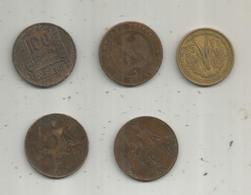 Monnaie , France Et Colonies Françaises ,  2 Scans ,  LOT DE 5 MONNAIES - Kilowaar - Munten