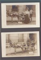 """Anes / Lot De 2 CP / Photos Attelages Fleuris ! """"comment Me Trouvez Vous ? Mamanet Mme Tessier à La Fenetre - Anes"""