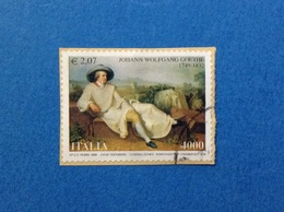 1999 ITALIA FRANCOBOLLO USATO STAMP USED GOETHE - 6. 1946-.. Repubblica