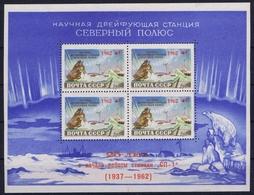 Russia Mi Block Nr 30 / 2605  Postfrisch/neuf Sans Charniere /MNH/** 1962 NORTH POLE STATION ZAGORSKY Some Irregular Gum - 1923-1991 URSS