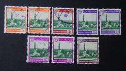 Saudi Arabia - 1968-72 - The Prophet's Mosque - 8 Pieces O - Look Scan - Saudi-Arabien