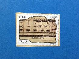1999 ITALIA FRANCOBOLLO USATO STAMP USED GIUBILEO 2000 BASSORILIEVO - - 6. 1946-.. Repubblica