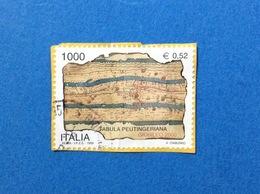 1999 ITALIA FRANCOBOLLO USATO STAMP USED GIUBILEO 2000 TABULA PEUTINGERIANA - - 6. 1946-.. Repubblica